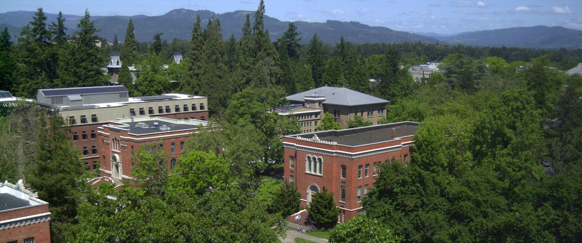 University of Oregon Campus by Erik R. Bishoff
